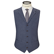Buy JOHN LEWIS & Co. Talbot Milled Crossweave Tailored Waistcoat, Blue Online at johnlewis.com