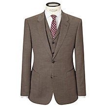 Buy JOHN LEWIS & Co. Cadogan Semi Plain Tailored Suit Jacket, Brown Online at johnlewis.com