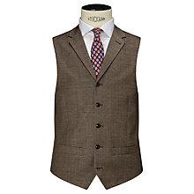 Buy JOHN LEWIS & Co. Cadogan Wool Linen Waistcoat, Brown Online at johnlewis.com