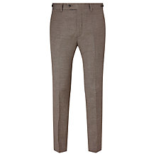 Buy JOHN LEWIS & Co. Cadogan Semi Plain Tailored Suit Trousers, Brown Online at johnlewis.com