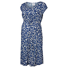 Buy Mamalicious Ellen Printed Maternity Dress, Blue/White Online at johnlewis.com