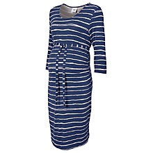 Buy Mamalicious Stripe Midi Maternity Dress, Twilight Online at johnlewis.com