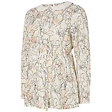 Buy Mamalicious Nomi Long Sleeve Maternity Top, Pink/White Online at johnlewis.com