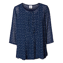 Buy Mamalicious Isabel Lia 3/4 Sleeve Printed Maternity Nursing Top, Black Iris Online at johnlewis.com
