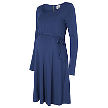 Buy Mamalicious Stina Long Sleeve Maternity Skater Dress, Twilight Online at johnlewis.com