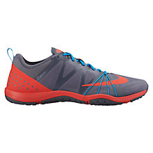 Buy Nike Free Cross Complete Cross Trainer, Grey/Orange Online at johnlewis.com