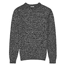 Buy Reiss Justin Chunky Knit Jumper, Black/White Online at johnlewis.com