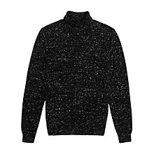 Buy Reiss Alpine Flecked Rollneck Jumper, Black Online at johnlewis.com