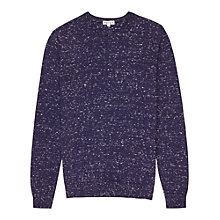 Buy Reiss Chalet Flecked Cashmere Blend Jumper, Navy Online at johnlewis.com