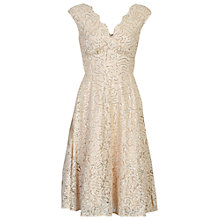Buy Jolie Moi Sequin Fit And Flare Dress, Beige Online at johnlewis.com