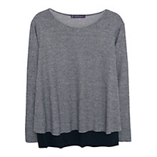 Buy Violeta by Mango Double Layered Houndstooth Blouse, Black/Multi Online at johnlewis.com