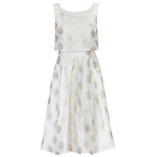 Buy Jolie Moi Polka Dot Jacquard Dress Online at johnlewis.com