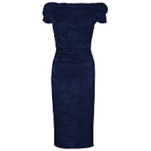 Buy Jolie Moi Bardot Neck Lace Dress, Navy Online at johnlewis.com