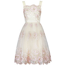 Buy Jolie Moi Tulle Floral Prom Dress, Beige Online at johnlewis.com