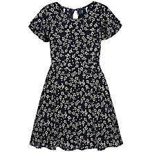 Buy Yumi Girl Floral Lace Back Dress, Navy Online at johnlewis.com