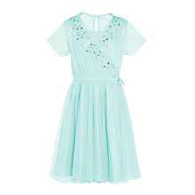 Buy John Lewis Heirloom Collection Girls' Mesh Crossover Dress Online at johnlewis.com
