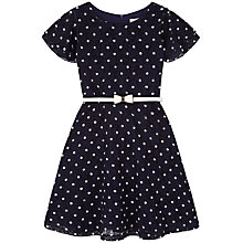 Buy Yumi Girl Lace Spot Dress, Navy Online at johnlewis.com