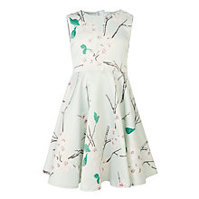 Buy John Lewis Heirloom Collection Girls' Cherry Blossom Print Dress, Mint Online at johnlewis.com
