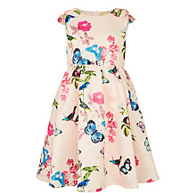 Buy John Lewis Heirloom Collection Girls' Satin Floral Print Dress, Pink Online at johnlewis.com