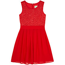 Buy Yumi Girl Sequin Sash Pleated Dress Online at johnlewis.com