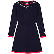 Buy Yumi Girl Jeweled Neckline Jumper Dress, Navy Online at johnlewis.com