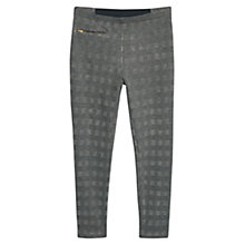 Buy Violeta by Mango Checked Pattern Leggings, Grey Online at johnlewis.com