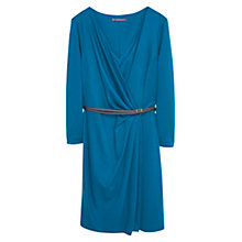 Buy Violeta by Mango Wrap Neckline Gown Dress, Dark Blue Online at johnlewis.com