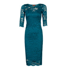 Buy Jolie Moi Two In One Scallop Floral Lace Dress Online at johnlewis.com