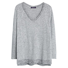 Buy Violeta by Mango Grey Flecked Sweater, Grey Online at johnlewis.com