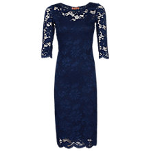 Buy Jolie Moi 2-in-1 Scallop Dress, Navy Online at johnlewis.com