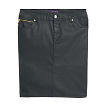 Buy Violeta by Mango Coated Zip Detail Skirt, Black Online at johnlewis.com