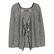 Buy Violeta by Mango Contrast Hem Sweater, Black Online at johnlewis.com
