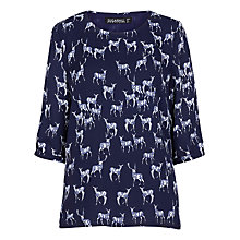 Buy Sugarhill Boutique Stag Print Cross Back Top, Navy Online at johnlewis.com