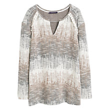 Buy Violeta by Mango Fringed Sweatshirt, Light Beige Online at johnlewis.com