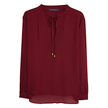 Buy Violeta by Mango Flowy Textured Blouse, Dark Red Online at johnlewis.com
