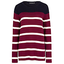 Buy Sugarhill Boutique Hallie Stripe Sweater, Navy/Wine/Cream Online at johnlewis.com