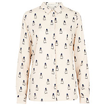Buy Sugarhill Boutique Jemima Owl Print Shirt, Cream Online at johnlewis.com