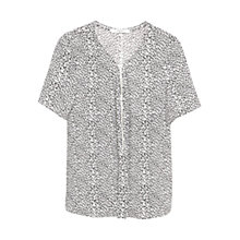 Buy Mango Leopard Print Blouse, Black/Multi Online at johnlewis.com