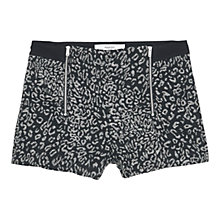 Buy Mango Jacquard Zip Detail Shorts, Black Online at johnlewis.com
