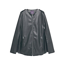 Buy Violeta by Mango Zipped Faux Leather Cape, Black Online at johnlewis.com
