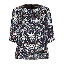 Buy Sugarhill Boutique Louise Blurred Spot Top, Black Online at johnlewis.com