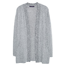 Buy Violeta by Mango Flecked Cardigan, Grey Online at johnlewis.com