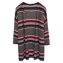 Buy Violeta by Mango Striped Cardigan, Red Online at johnlewis.com