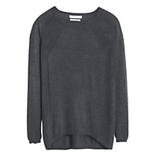 Buy Mango Cashmere-Blend Jersey Top, Dark Grey Online at johnlewis.com