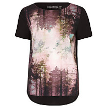 Buy Sugarhill Boutique Brittany Woodland T-Shirt, Black Multi Online at johnlewis.com