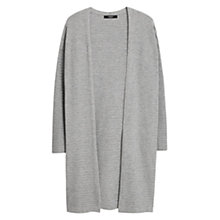 Buy Mango Waterfall Cardigan, Medium Grey Online at johnlewis.com