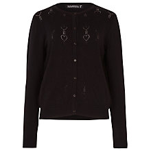 Buy Sugarhill Boutique Fern Heart Cotton Cardigan, Black Online at johnlewis.com