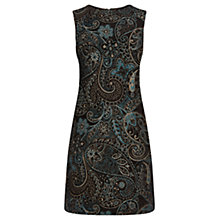 Buy Warehouse Boucle Paisley Print Dress, Green Online at johnlewis.com