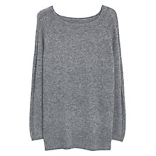 Buy Violeta by Mango Alpaca Wool Sweater, Grey Online at johnlewis.com