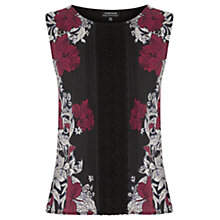Buy Warehouse Tapestry Floral Top, Multi Online at johnlewis.com